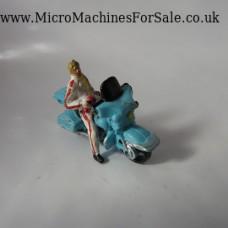 Harley Davidson electraglide (Blue, White figure)