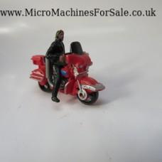 Harley Davidson electraglide (red, black figure)