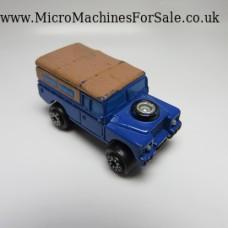 Land Rover (Blue, dark brown top)