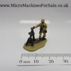 Mortar launcher soldier