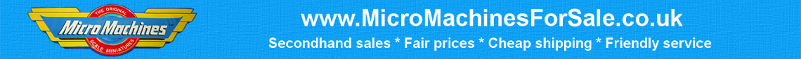 Micro Machines for sale banner