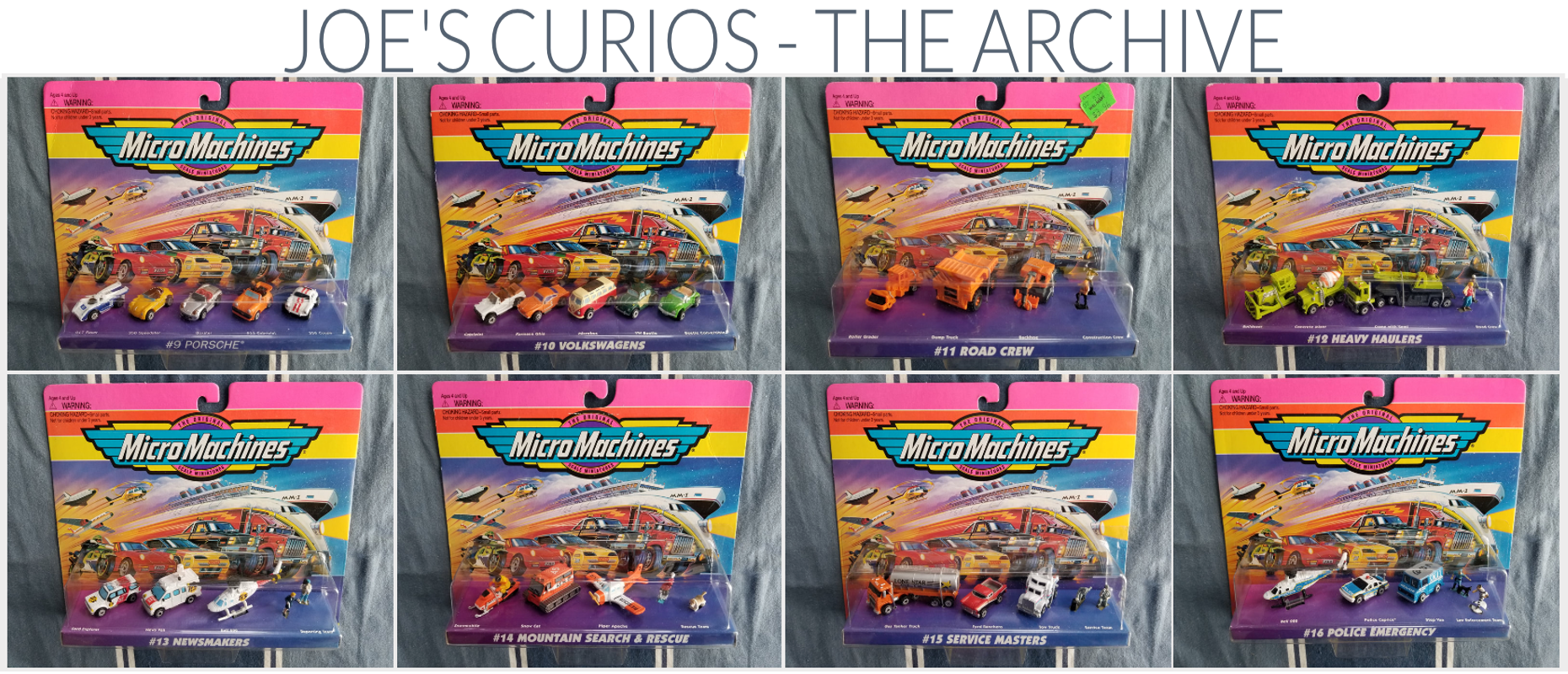 Micro Machines Blister packs and sets resource